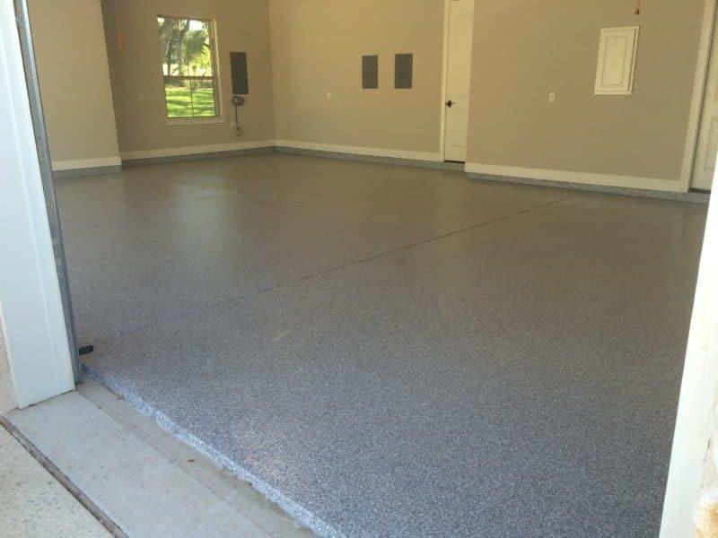 chip epoxy garage floor