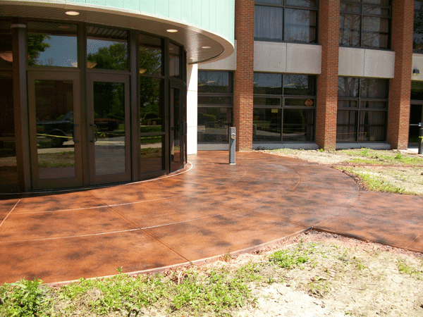 stained concrete patio austin tx
