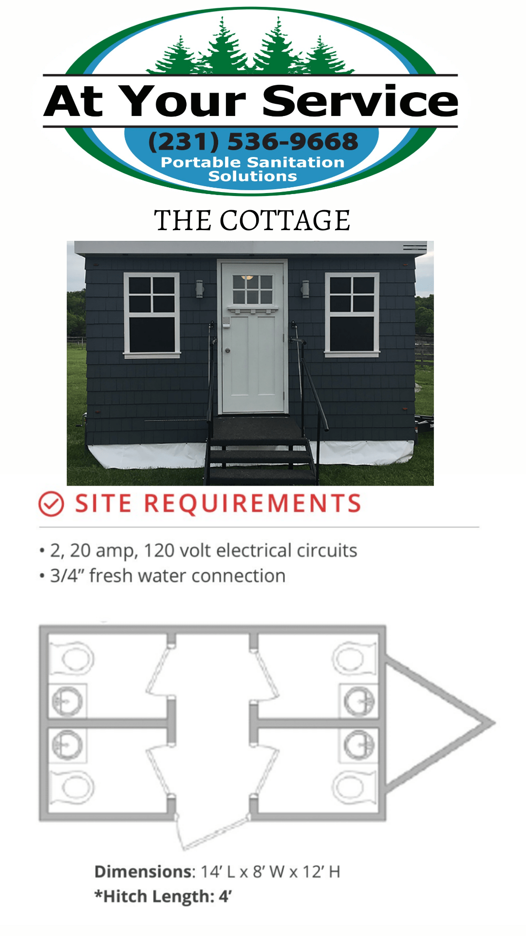 Product Specs Features At Your Service Plus How Many Circuits In A Bathroom We Offer You The Finest Mobile Sanitation Systems Our Cottage Brings Restroom Quality Design And Cleanliness Of Top Resorts