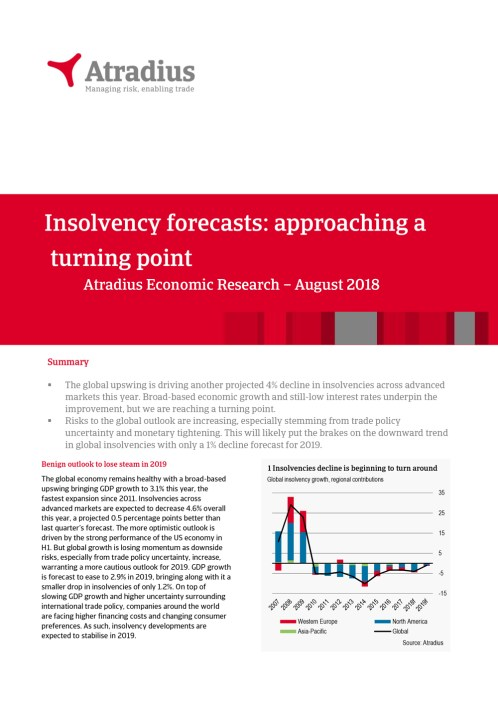 Insolvency forecasts: approaching a turning point