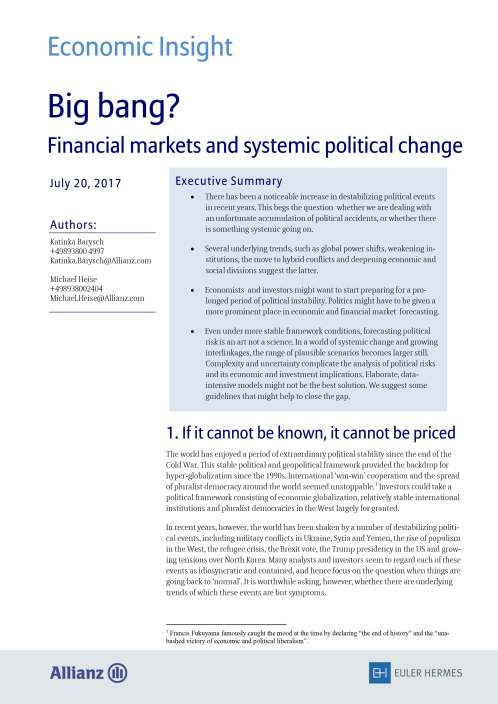 Big bang? Financial markets and systemic political change