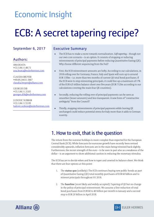 ECB: A secret tapering recipe?
