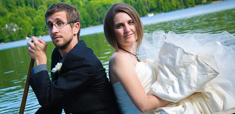 Patrick et Megan à leur mariage