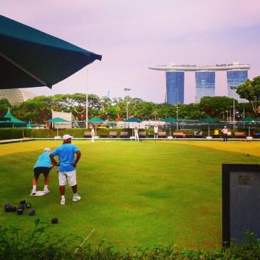 Le boulingrin au Singapore Cricket Club