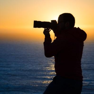 silhouette de photographe à Las Dunas de ConCon