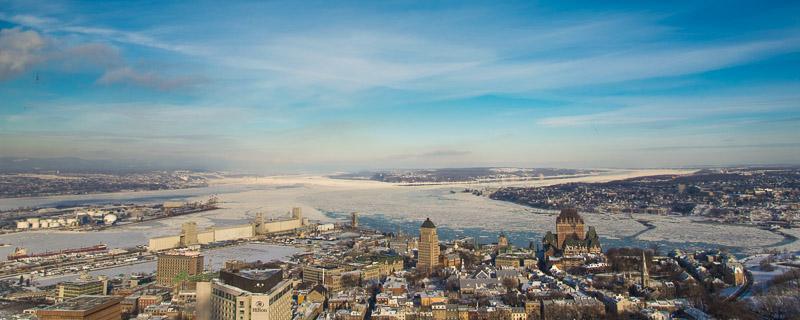 La ville de Québec vu de l'observatoire