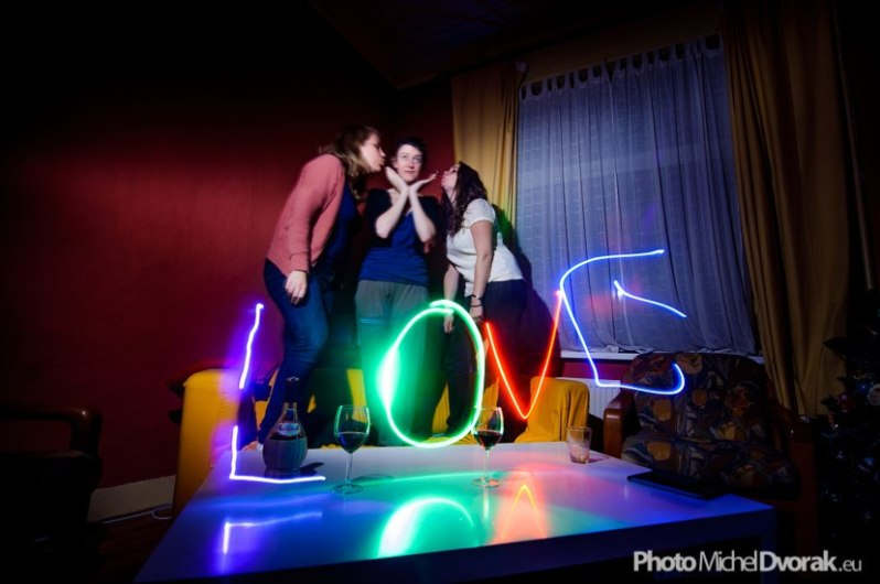 Love lightpainting / © Du Monde au Tournant