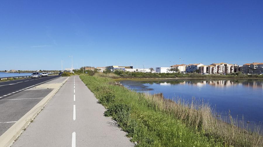 piste cyclable de Frontignan gare au camping Tamaris