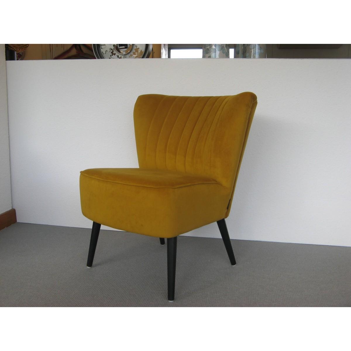 fauteuil solo velours