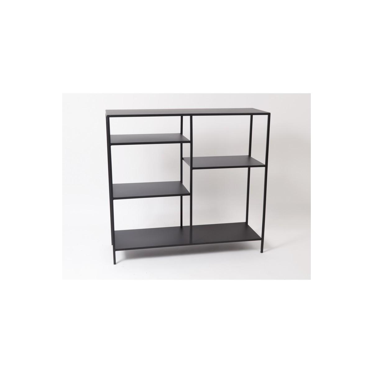 etagere metal noir 90x90