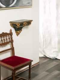 Konsole Wandkonsole Regal Wandregal Wandboard schwarz gold ...