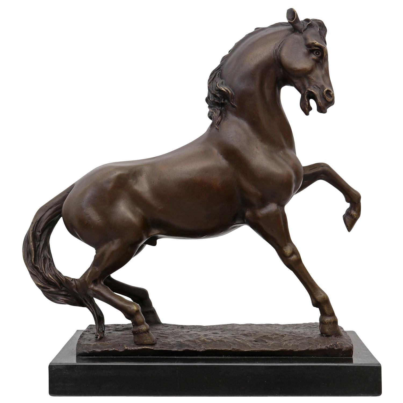 bronze sculpture horse stallion decoration modernist statue antique style 34cm