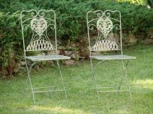 Garden Furniture Set - Table & 2 Chairs Antique Style