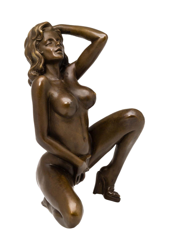 Bronze Figur nackte Dame Akt erotische Kunst Bronze Bronzeskulptur sculpture  eBay