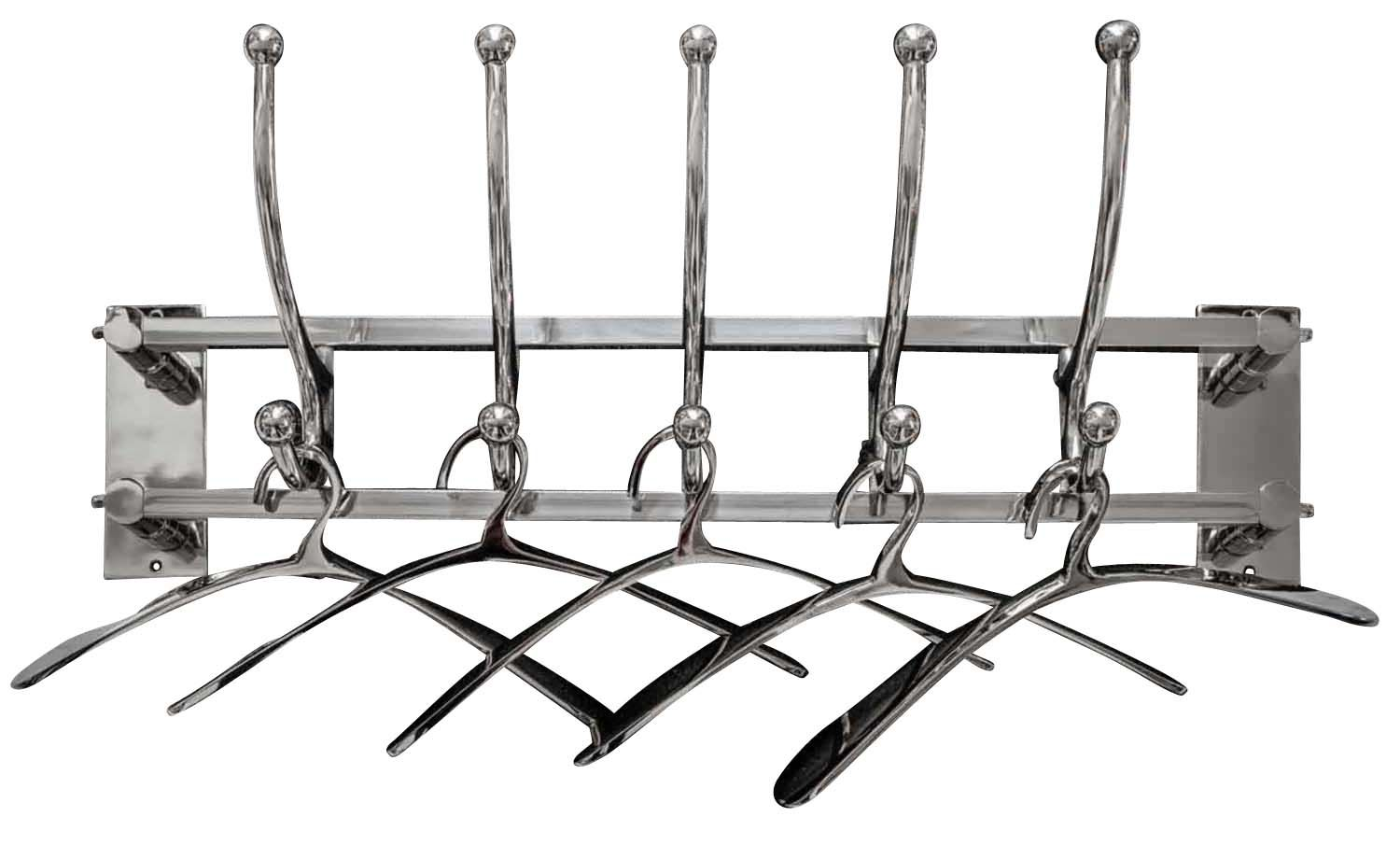 Vintage Coat Rack With 5 Coat Hangers