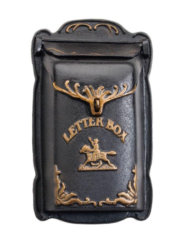 Nostalgia Mailbox Horse Wall Cast Iron Post Box