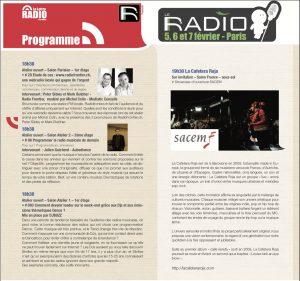 Conférence - Salon de la Radio