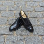 The Balmoral Oxford Constant in black leather calf