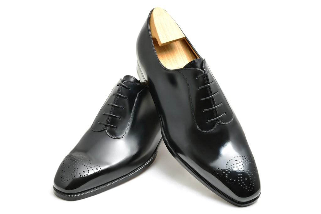 Le richelieu oxford bi matière Colin en cuir noir