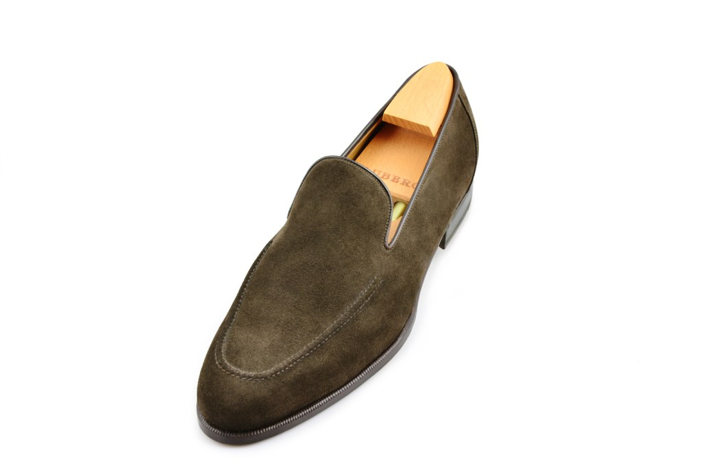 Le mocassin loafer Dario en daim marron