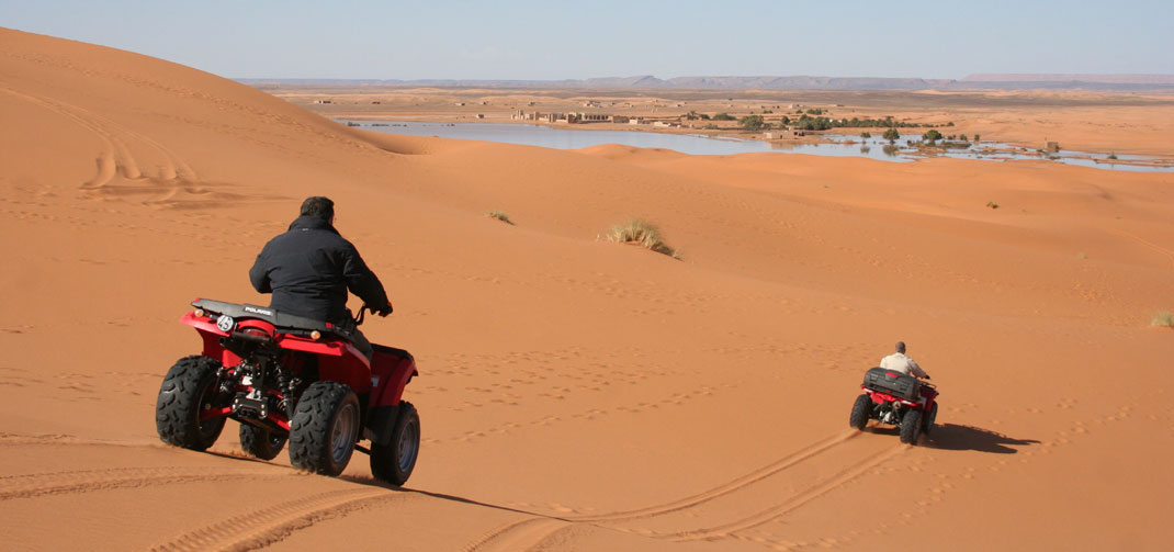 Rutas en cuatrimotos por las dunas