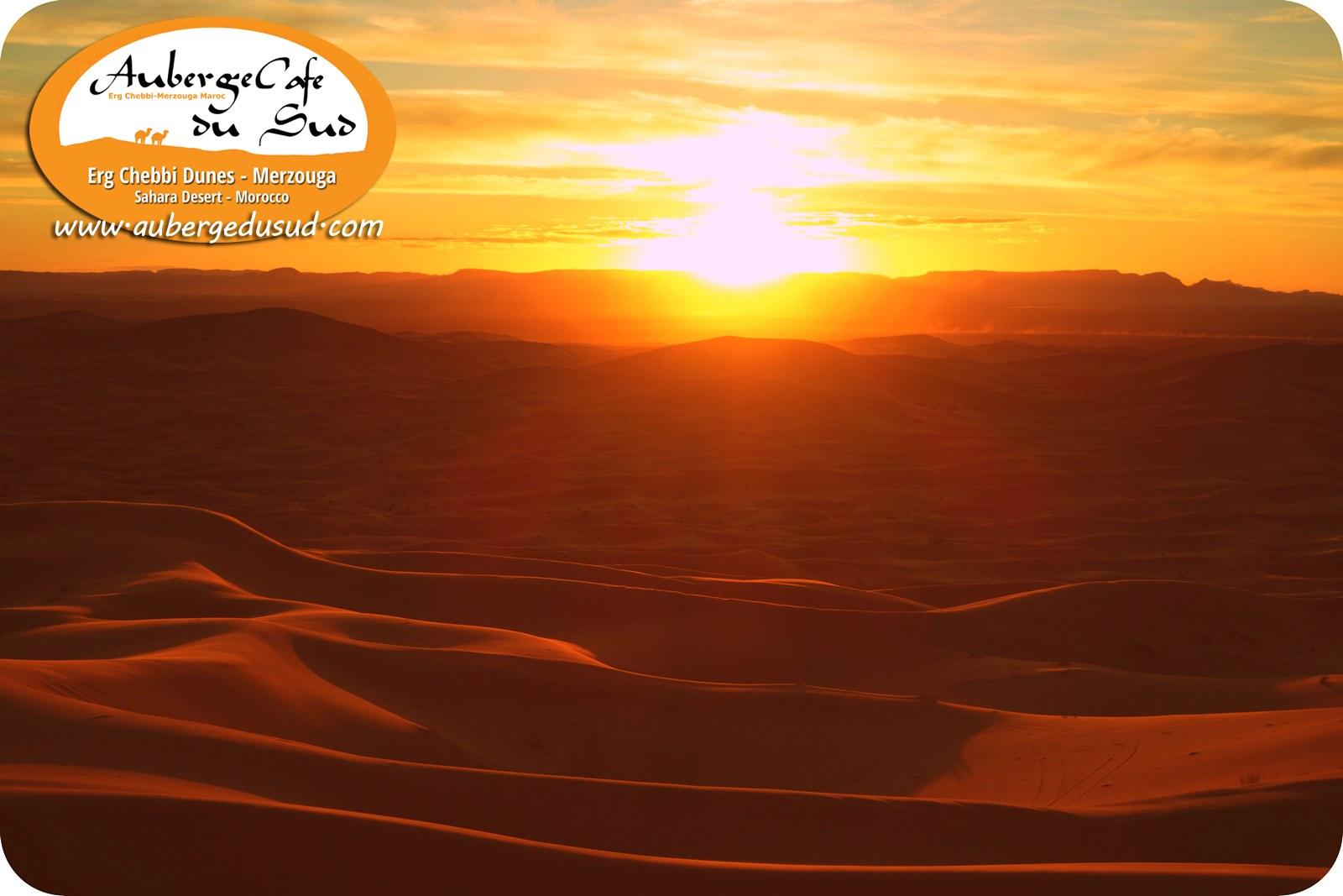 SUNSET DESERT MOROCCO