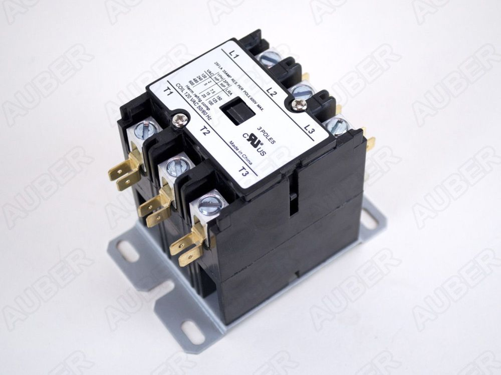 medium resolution of contactor 3 pole 30 40 a 120v coil
