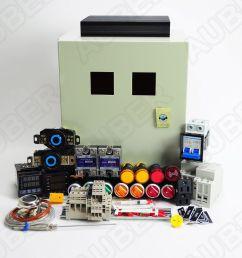 powder coating oven controller kit w light fan control 12000w  [ 1280 x 1197 Pixel ]