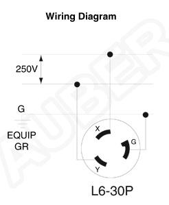 Leviton 240V 30A NEMA L630P Plug for Heater [L630P