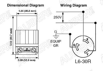 Nema 6 20p Wiring Diagram Leviton 250v 30a L6 30r Locking Connector For Power Input