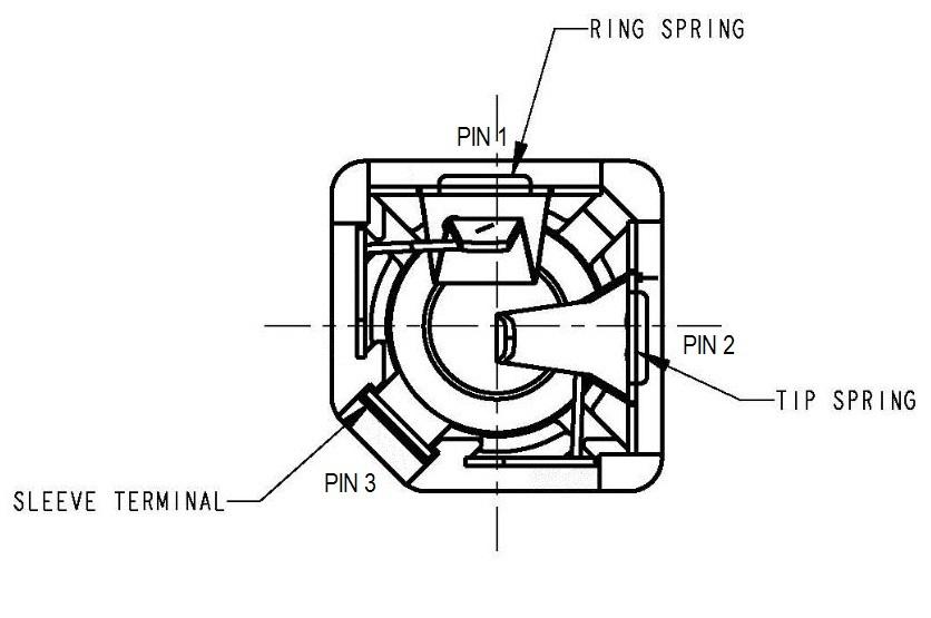 1/4 6.5mm Mono Headphone Jack for PT1000 RTD [PT1KCON