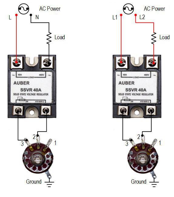 Ac Motor Speed Controller Wiring Diagram 25a Solid State Voltage Regulator High Power Scr Ssvr