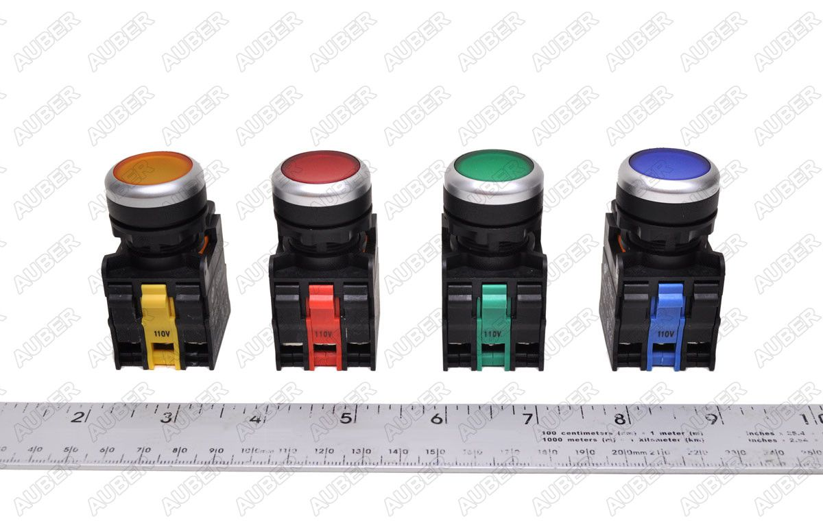 hight resolution of the picture shows the different color of pushbutton switches