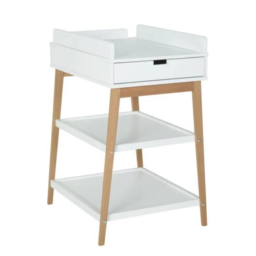 Table à langer tiroir hip Blanc / Naturel de Quax, Tables à langer ...