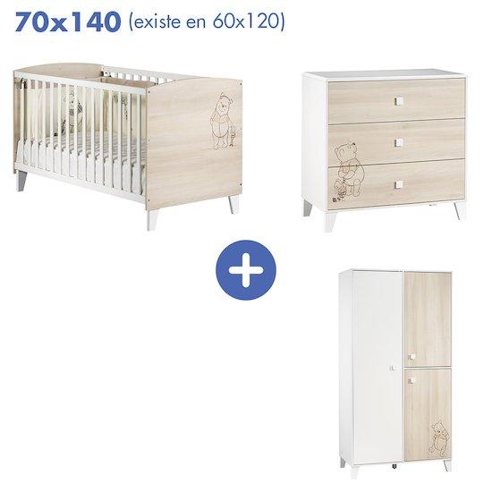 chambre winnie l ourson lit 70x140 armoire commode