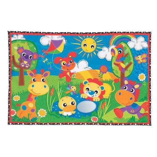 tapis d eveil la jungle enchantee multicolore