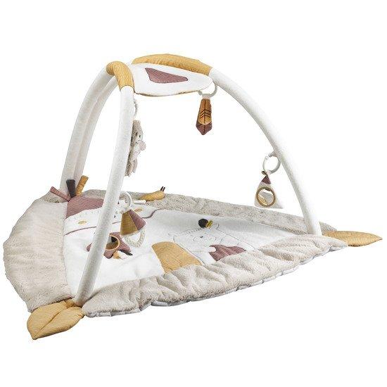 timouki tapis d eveil triangulaire beige