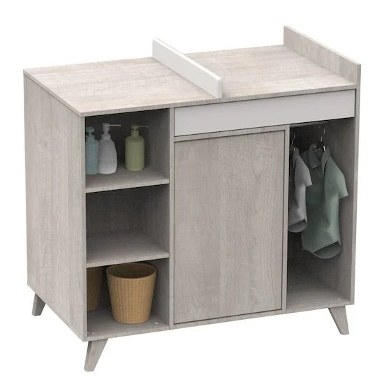meuble a langer commode et table a