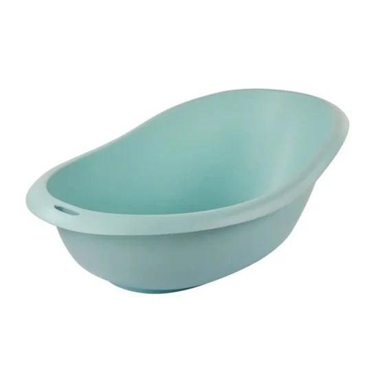 baignoire ergonomique avec vidange bleu