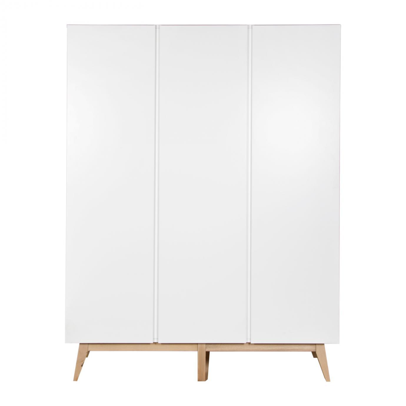 trendy armoire 3 portes blanc