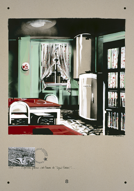Secrets Défense - Acrylique sur carton par Michelle Auboiron - Récit autobiographique Dans ma maison, 37 rue Marengo à Courbevoie