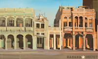 Peinture du Malecon à la Havane par Michelle Auboiron