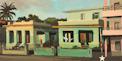 Les maisons vertes - Une peinture de Cuba de Michelle Auboiron
