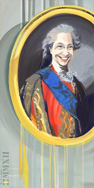 Le Fou du Roi - Détournement des tableaux officiels du Château de Versailles par Michelle Auboiron