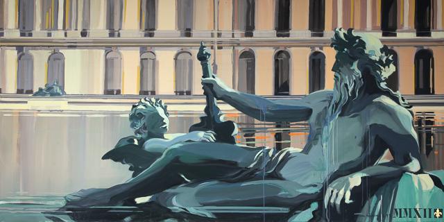 Peinture du Parc de Versailles par Michelle AUBOIRON