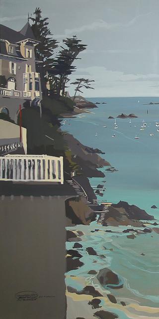Peinture de Dinard par Michelle Auboiron - Villa à Saint Lunaire