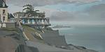Peinture de la Villa Greystone à Dinard par Michelle Auboiron