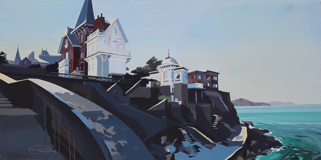 Peinture de la Pointe de la Malouine à Dinard par Michelle Auboiron