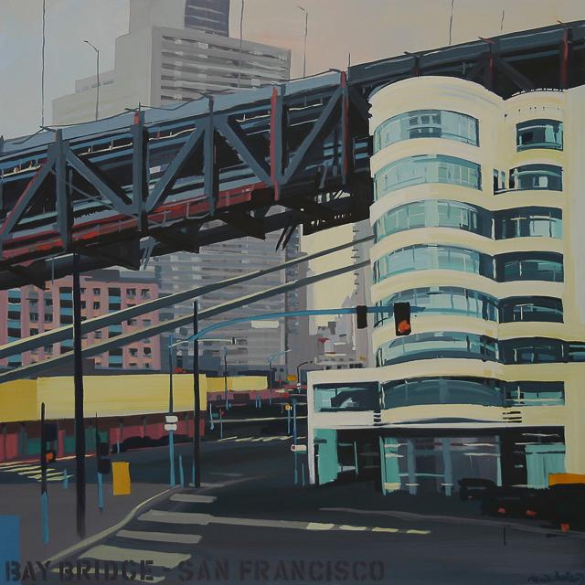 Peinture des ponts américains par Michelle Auboiro