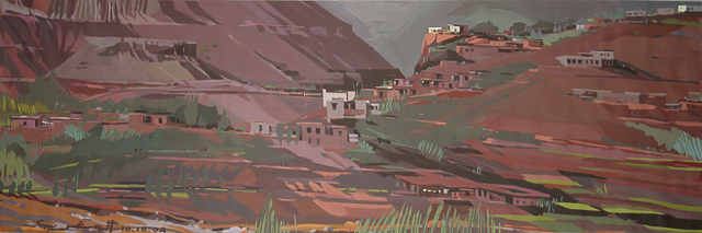Peinture du Sud marocain par Michelle AUBOIRON